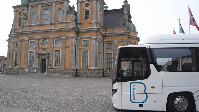 Biogasbus on tour in Kalmar