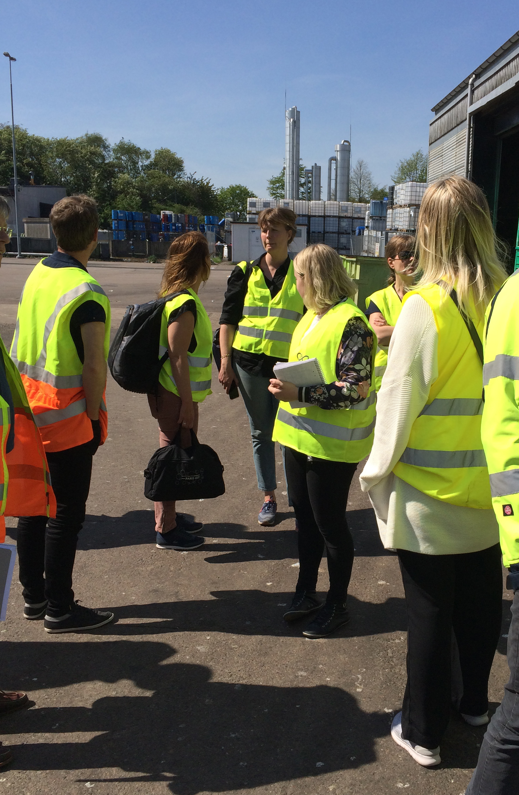 Researchers on Biogas Tour summer 2017