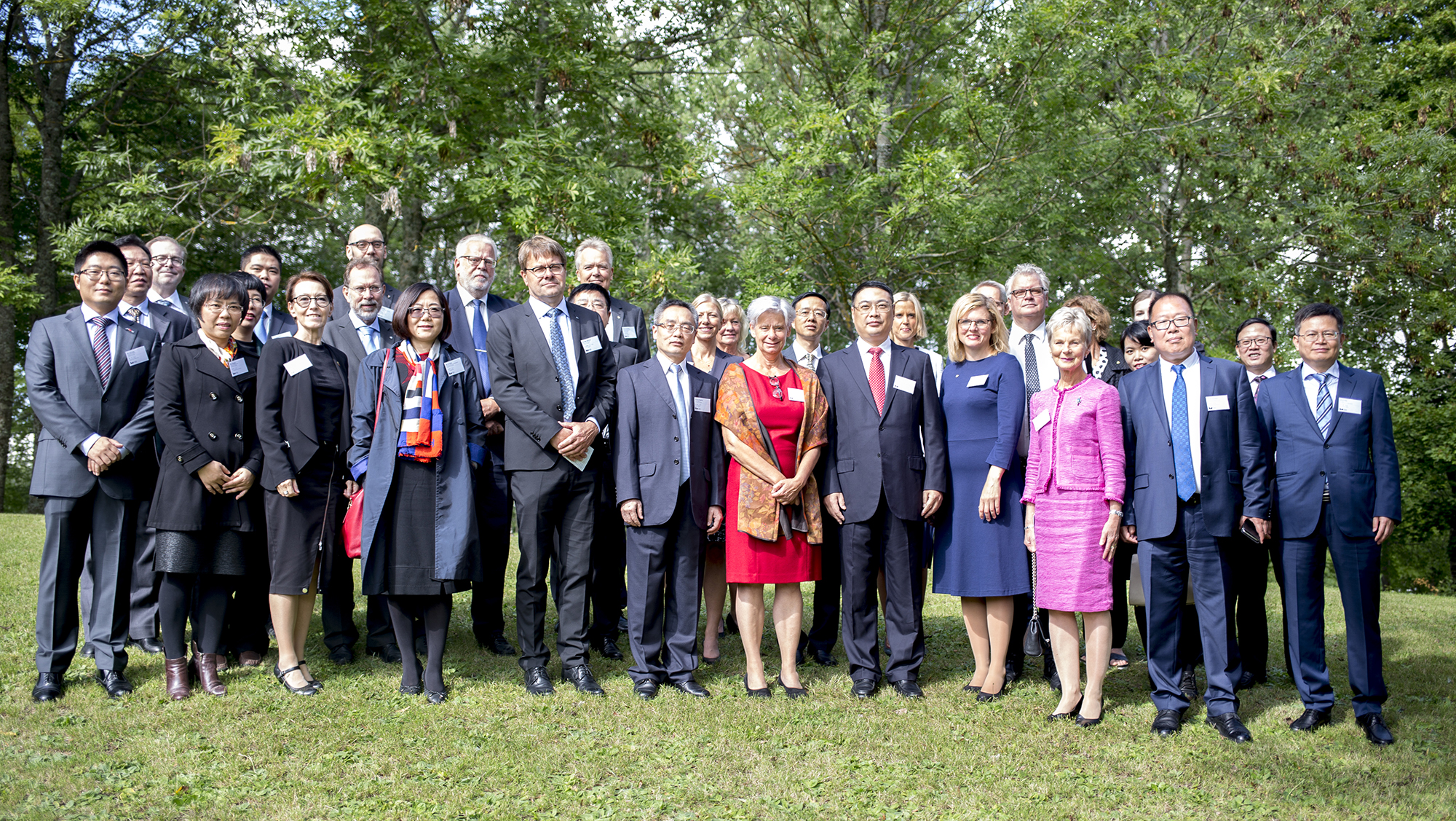 Swedish hosts and the Chinese delegation