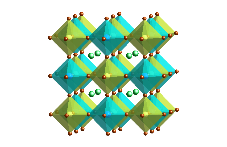Double halide perovskite
