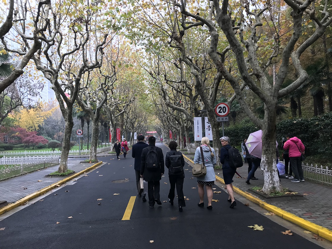 A walk at Fudan University