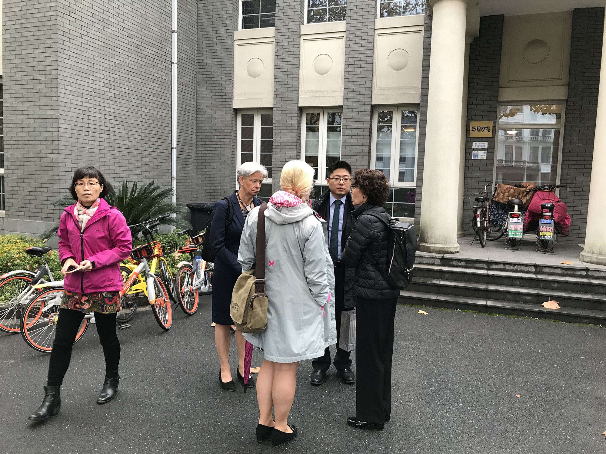 LiU delegation outside Nordic Centre