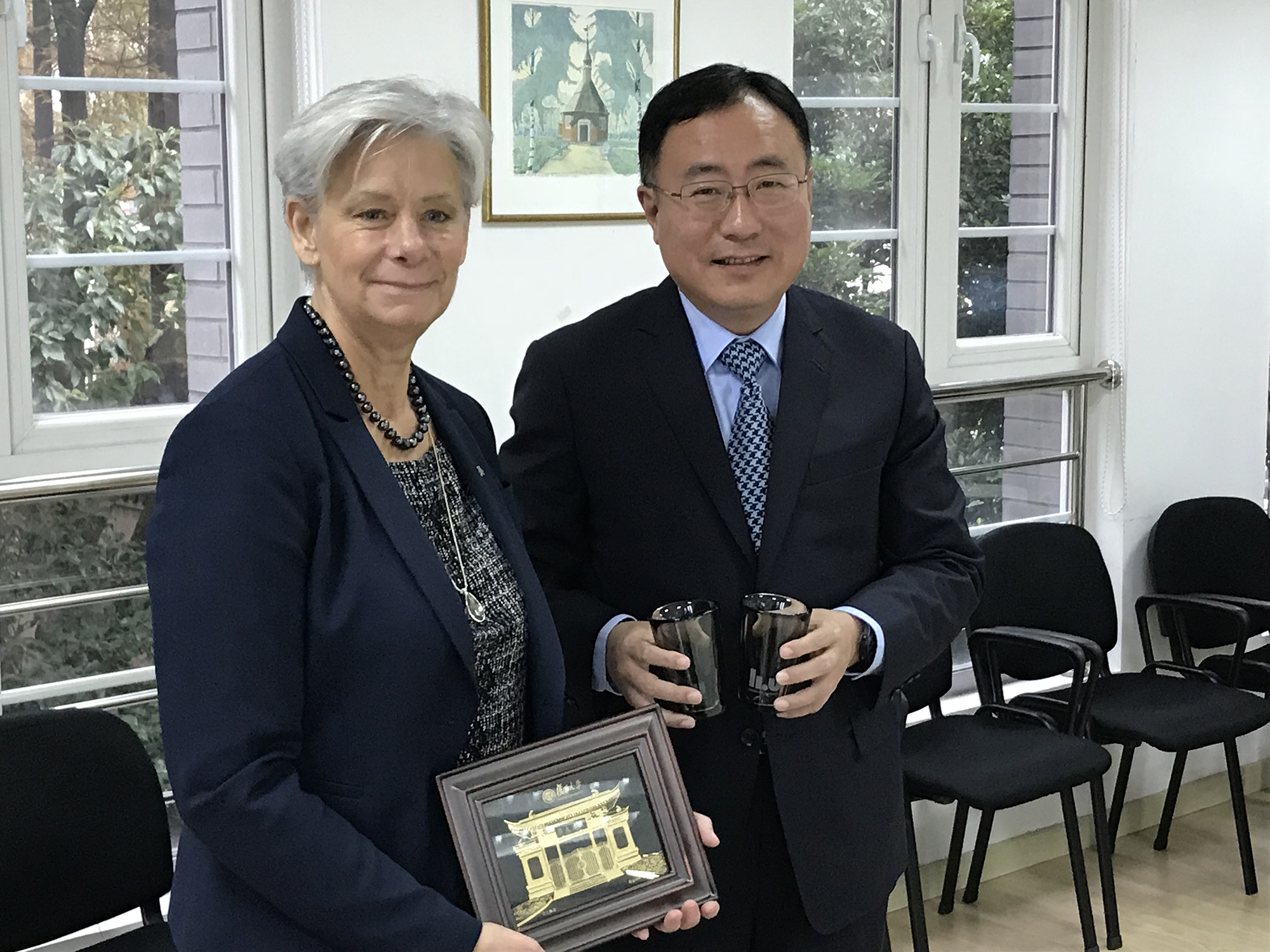 Helen Dannetun and Gui Yonghao