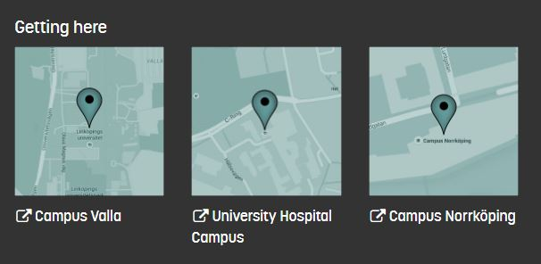 Screenshot of direction links to our campuses via Google Maps on our website.