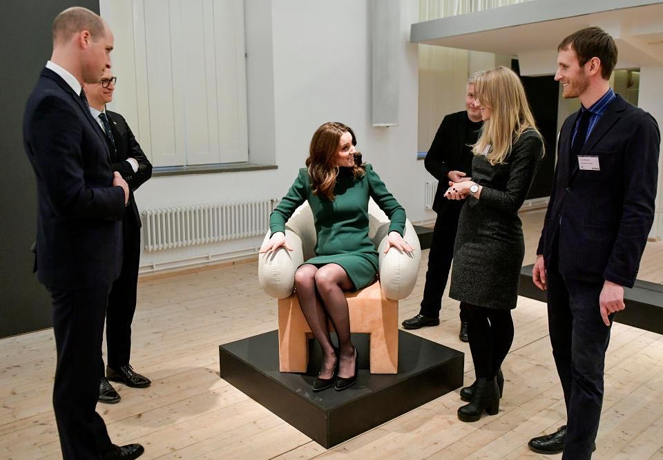 Kate Middleton sits in Mammut