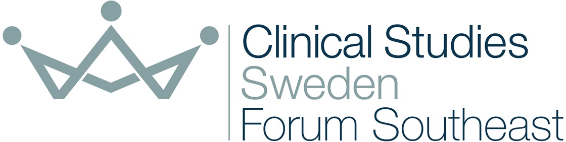 Clinical Studies Sweden Forum Southeast logotype with crown on the left.