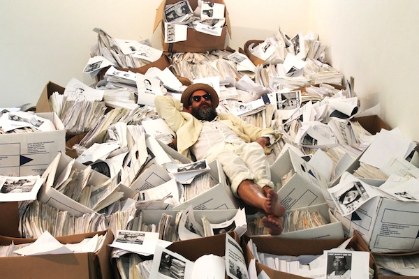 Kenneth Goldsmith at Labor Gallery, Mexico City, 2013.