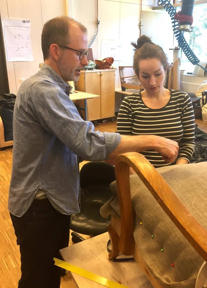 Renowned upholsterer visits LiU