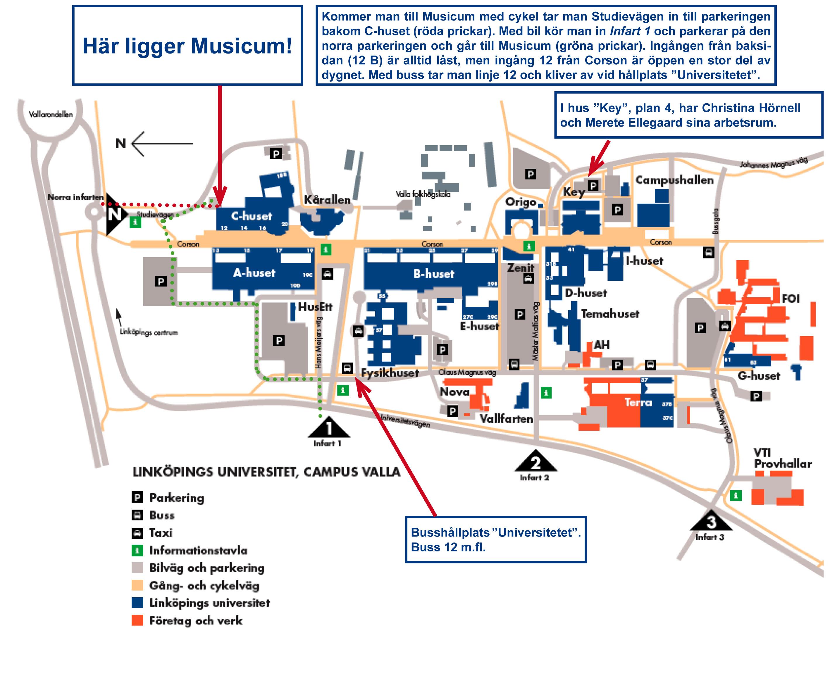 karta liu Övningsrum   Musicum   Linköpings universitet karta liu