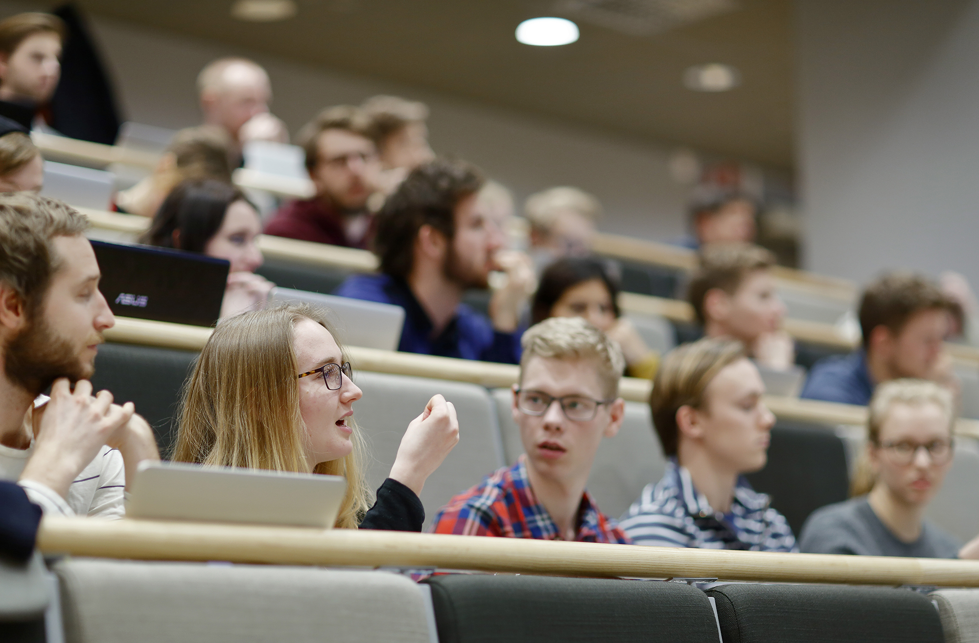 Studenter på lektion i klassrum