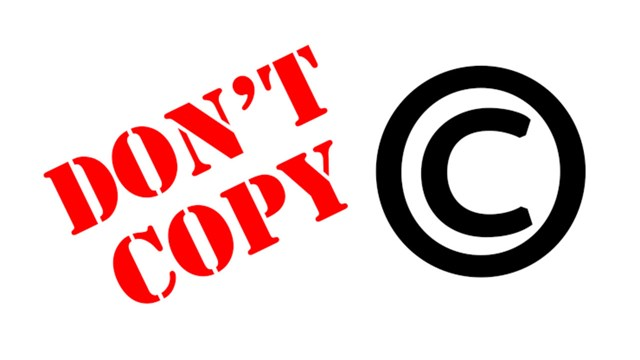 "The text ""don't copy"" together with copyright symbol (c)."