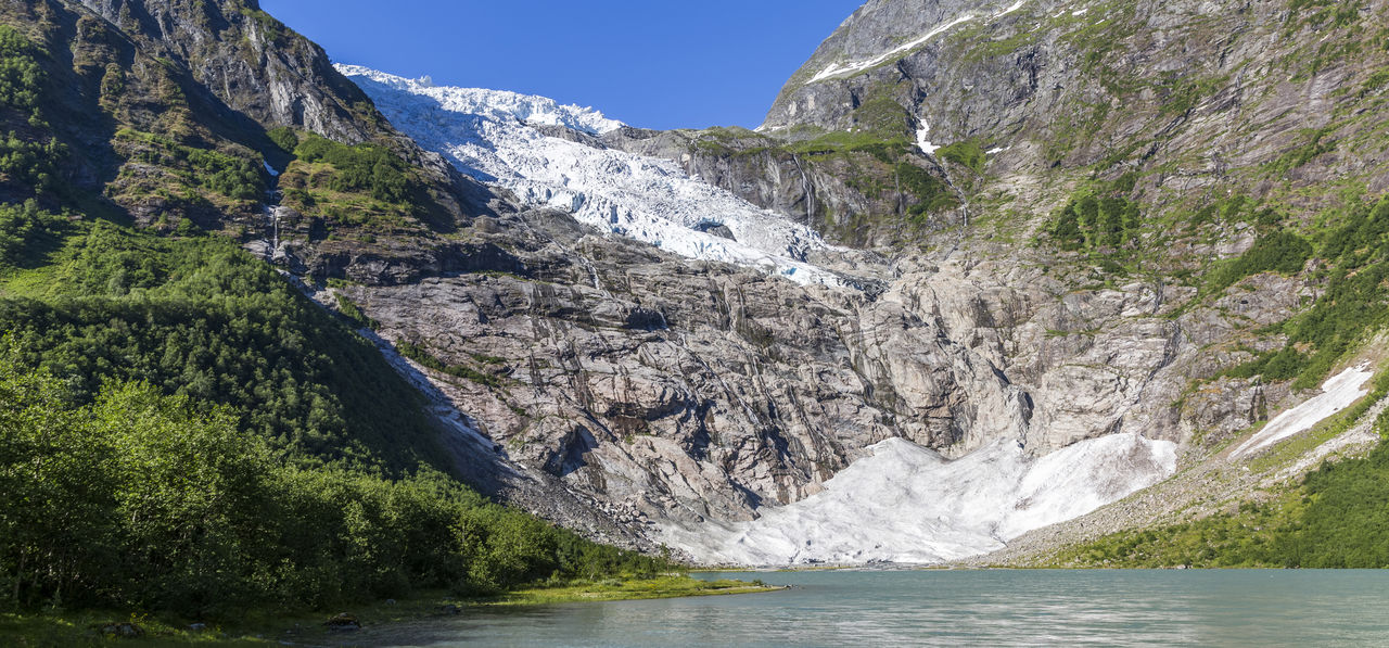 Boyabreen Glacier in Jostedalsbreen National Park, Norway