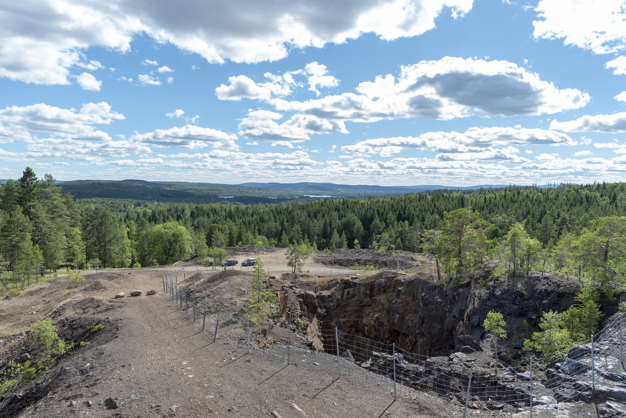 Former mining site Stollberg in Sweden