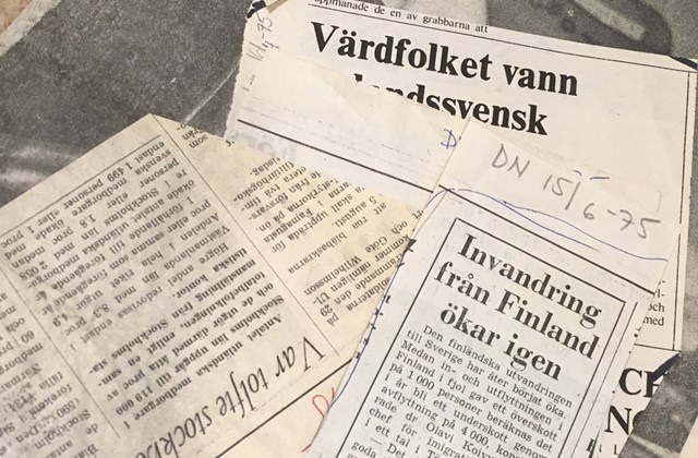 A collection of news paper articles on migration (in swedish).