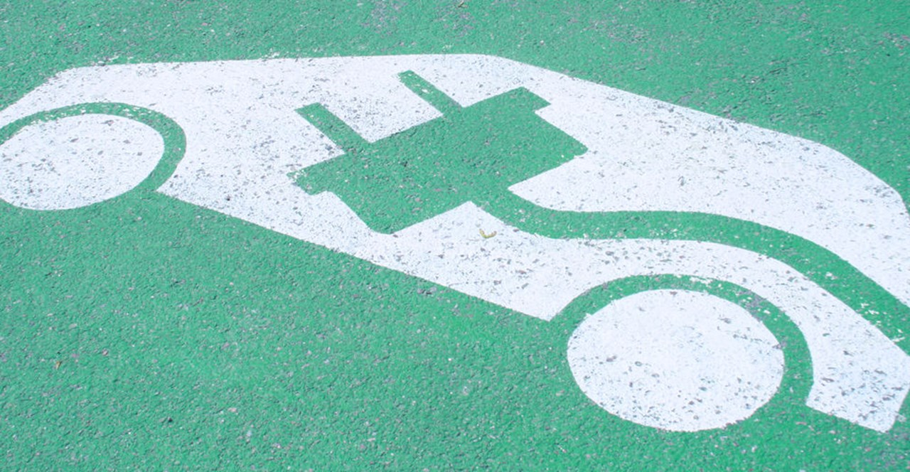 Parking space for an electric car