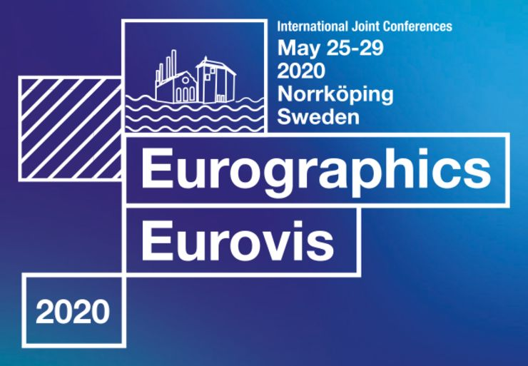 Logo for Eurographics and Eurovis 2020 conference In Norrköping.