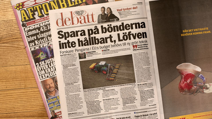 Opinion piece in the Swedish national daily Aftonbladet