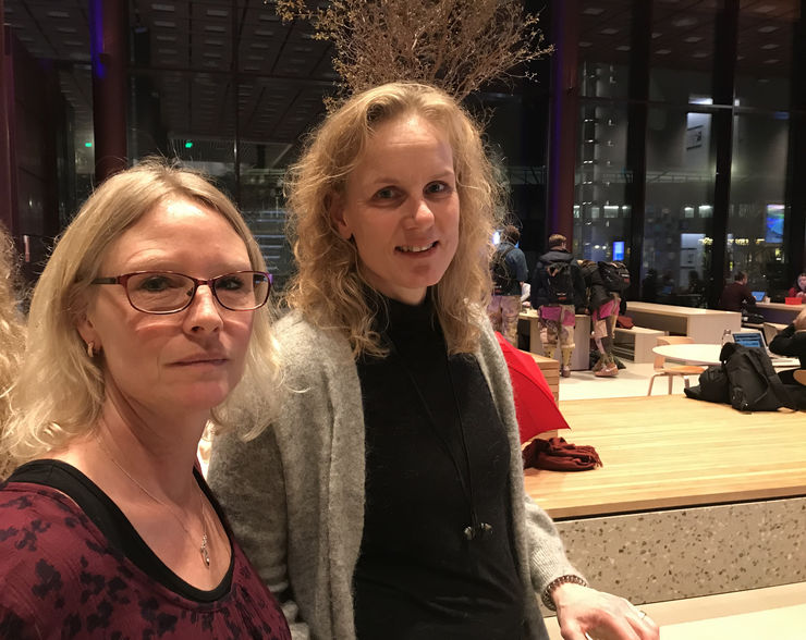 Anna Landberg and Cecilia Haraldsson from the Kolmården Wildlife Park, which commissioned the project