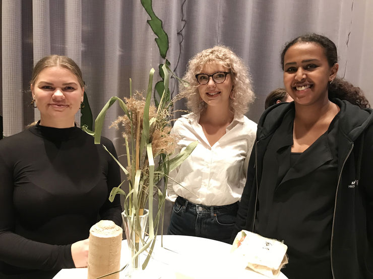 Matilda Jürss, Fanny Aasheim and Aniisa Bihi, the group behind Naturereed