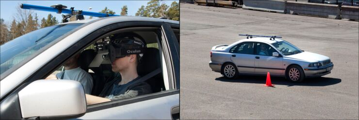 Test driving with VR technology.
