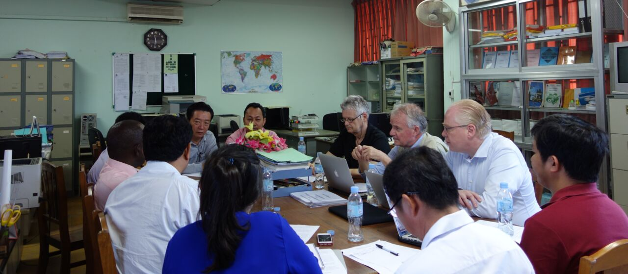Meeting at the Royal University of Phnom Penh in 2019.