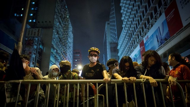 Demonstrations in Hongkong 2014.