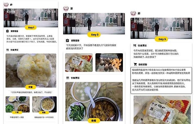 Food diary from Wuhan.