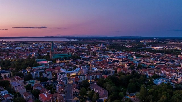 Drone footage of Linköping